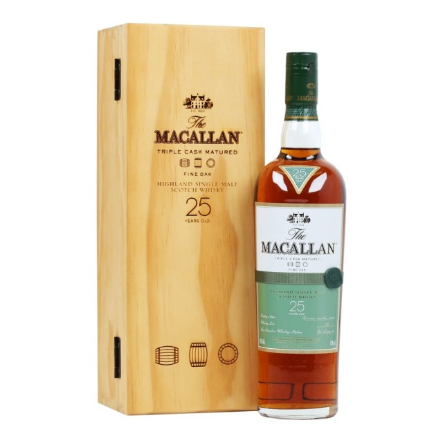 Macallan 25 Fine Oak (wooden box)
